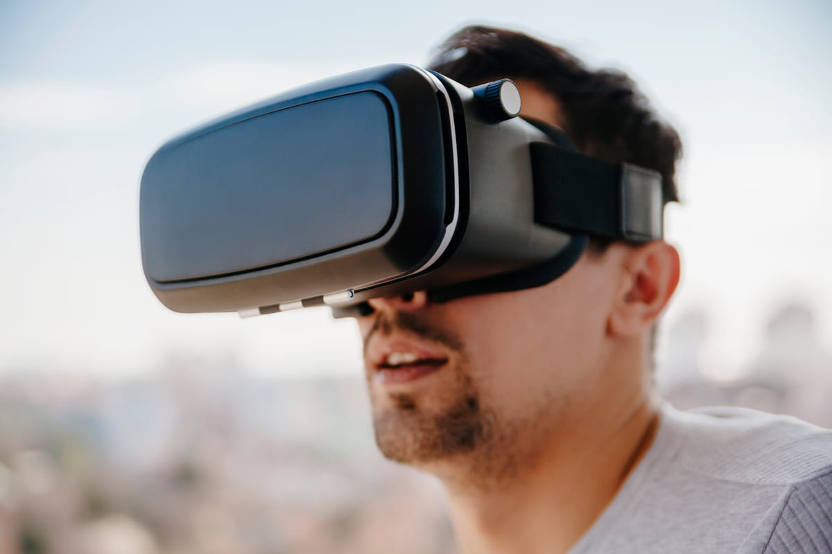 Canva - Man with the Virtual Glasses